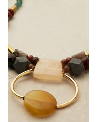 Anthropologie - Multicolor Gem Cascade Necklace - Lyst