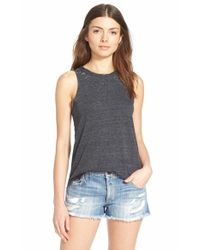 Chaser | Black Shirttail Racerback Tank | Lyst