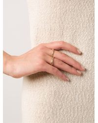 Kelly Wearstler | Metallic 'cabot' Two Finger Ring | Lyst