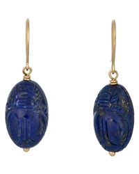Aurelie Bidermann - Blue Scarab-beetle Drop Earrings - Lyst