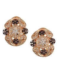 Effy | Pink Diamond And 14k Yellow Gold Earrings, 1.13 Tcw | Lyst
