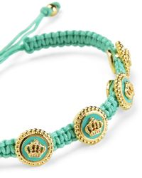 Juicy Couture | Green Status Coin Friendship Bracelet | Lyst