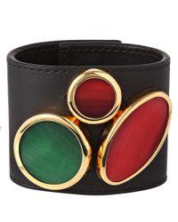 Marni - Black Leather Circle Cuff Bracelet - Lyst