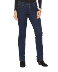 Lauren by Ralph Lauren | Blue Petite Super-stretch Modern Curvy Rinse-wash Jean | Lyst