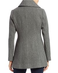 Jessica Simpson - Gray Double-breasted Wool-blend Coat - Lyst
