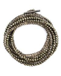 Brunello Cucinelli | Green Crystal Bracelet | Lyst