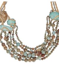Alexis Bittar - White Imperial Jasper And Amazonite Beaded Strand Necklace - Lyst