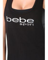 Bebe - Black Racerback Tank - Lyst