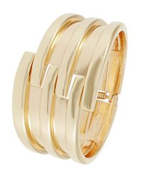 Panacea - Metallic Interlocking Hinge Bracelet - Lyst