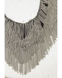 Forever 21   Metallic Chain Fringe Bib Necklace   Lyst