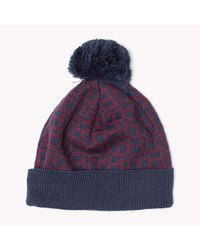 Tommy Hilfiger | Blue Wool Blend Hat | Lyst