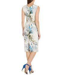 Ted Baker   Beige Loua Floral Sheath Dress   Lyst