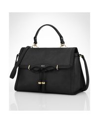 Lauren by Ralph Lauren | Black Dundee Convertible Satchel | Lyst