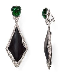 Alexis Bittar - Black Lucite Fancy Dangling Clip On Earrings - Lyst