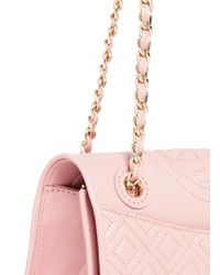 Tory Burch | Pink 'fleming' Medium Quilted Leather Bag | Lyst