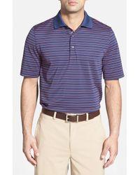 Bobby Jones - Blue 'Xh20 Pencil Stripe' Regular Fit Four-Way Stretch Golf Polo for Men - Lyst