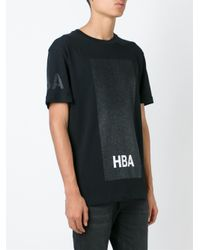 Hood By Air - Black Logo Print T-shirt for Men - Lyst