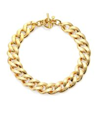 Michael Kors | Metallic Curb Chain Toggle Necklace | Lyst