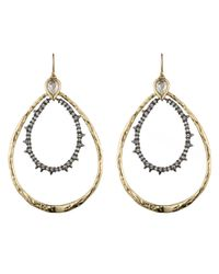 Alexis Bittar | Metallic Pear Shaped Spike Crystal Doublet Hoop Earring You Might Also Like | Lyst