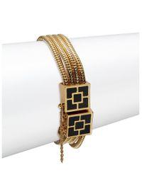 Trina Turk | Metallic Goldtone Geo Square Bracelet | Lyst