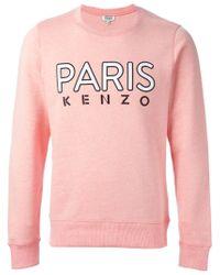 KENZO | Pink Paris Cotton Sweatshirt | Lyst