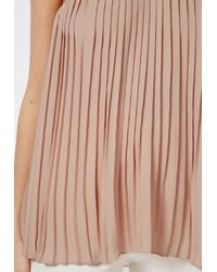 Missguided - Natural Pleated Cami Top Nude - Lyst