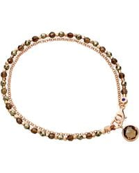 Astley Clarke | Pink Pyrite and Smoky Quartz Bracelet | Lyst