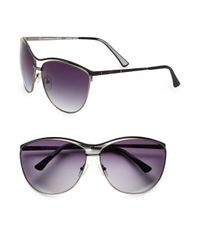 Oscar de la Renta | Black Two-Tone Cat'S-Eye Sunglasses | Lyst