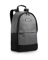 Calvin Klein - Gray White Label Brett Logo Backpack for Men - Lyst
