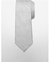 Calvin Klein | Gray White Label Slim Solid Stitch Tie for Men | Lyst