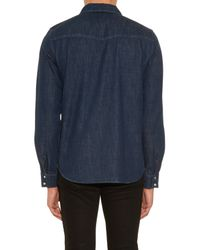 A.P.C. | Blue Long-sleeved Denim Shirt for Men | Lyst