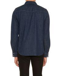 A.P.C.   Blue Long-sleeved Denim Shirt for Men   Lyst