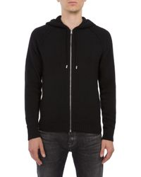 7 For All Mankind | Hoodie Cashmere Black for Men | Lyst