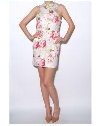 Carven - Multicolor Sable Floral Jumper Dress - Lyst