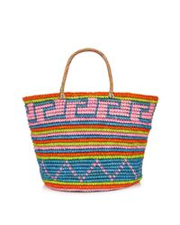 Sensi Studio - Natural Maxi Straw Tribal-Print Tote - Lyst