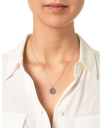 Laura Lee | Metallic Silver Diamond Aquarius Necklace | Lyst
