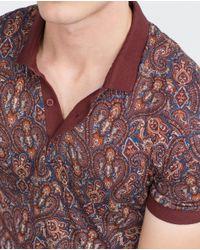 Zara | Purple Paisley Polo Shirt for Men | Lyst