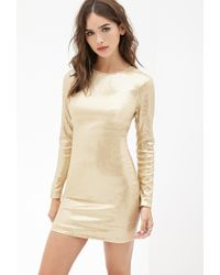 Forever 21 | Metallic Sequined Bodycon Dress | Lyst