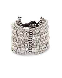 Uno De 50 | Brown Bead Layered Bracelet | Lyst