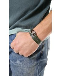 Miansai | Green Brummel Hook Noir Bracelet for Men | Lyst