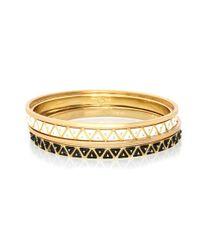 Rose Pierre   Metallic Treasure Chest Bangle Set   Lyst