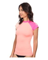 Rip Curl - Pink Surf Session Cap Sleeve - Lyst