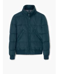 Mango | Blue Hood Quilted Coat for Men | Lyst