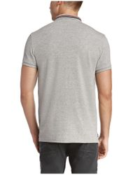 BOSS Orange | Gray Regular-fit Polo Shirt 'prescott' In Cotton for Men | Lyst