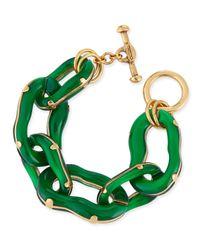 Oscar de la Renta | Resin Link Bracelet Green | Lyst