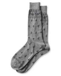 Banana Republic | Gray Luxe Bandana Sock for Men | Lyst