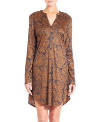 Hanro - Brown Mona Lisa Sleepshirt - Lyst