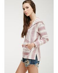 Forever 21 - Natural Striped Baja Hoodie - Lyst