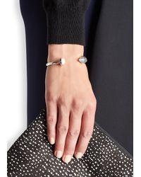 Eddie Borgo   Metallic Pearl-embellished Silver-plated Bracelet   Lyst