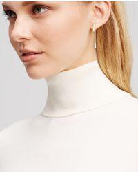 Ann Taylor - Metallic Pave Bar Drop Earrings - Lyst